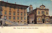Cartolina Illustrata Pisa Piazza dei Cavalieri Chiesa S. Stefano 1918