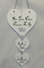 First 1st Paper Wedding Relationship Anniversary Gift Personalised Plaque Card
