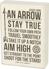 Wall Decor Box Sign Advice from an Arrow Inspirational Quote or Room Decor #934