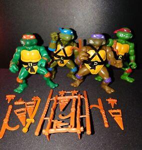 1988 Playmates TMNT Teenage Mutant Ninja Turtles Playmates Softhead Lot 4 Clean