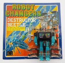 VINTAGE 1980s CONVERTORS ROBOT CHANGERS TAKATOKU DESTRUCTOR BEETLE TRANSFORMER