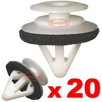 20 MAZDA MX5 RX8 CX-7 CX-9 SIDE SKIRT MOULDING TRIM CLIPS PLASTIC FASTENERS