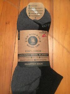 GH Bass Co Explorer Merino Wool Blend Mens Socks  3 Pairs Size 10-13
