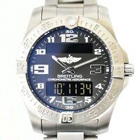 Authentic Breitling Aerospace Evo Chronometer Wrist Watch Men Quartz Battery