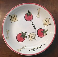 Tabletops Unlimited Everybody Loves Salad Hand Painted Bowl