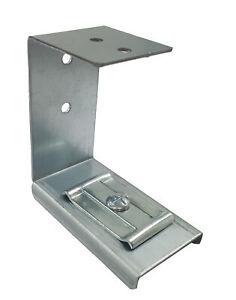 """Premier Under Desk """"C"""" Brackets & Fixings - Silver"""