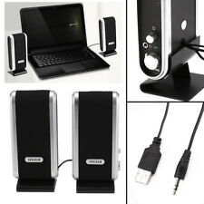 Portable USB Multimedia Stereo Speakers System For PC Laptop Computer UK