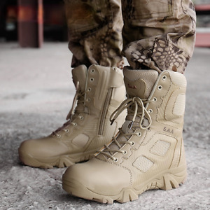 Men Military Boots Warm Tactical Army Boots Light Waterproof Anti-Slip Big Size