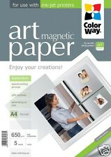 Photo paper ColorWay ART Matte MAGNETIC Paper 650 g/m² A4, Top Quality 5 Sheets