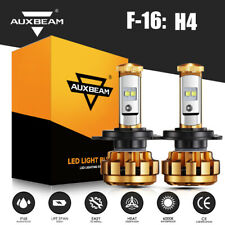 Auxbeam F-16 H4 Hb2 9003 Led Headlight Bulbs Kit High Low Beam 6000K Super White (Fits: Subaru)