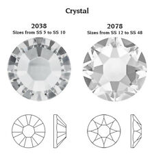 Genuine SWAROVSKI 2038 & 2078 Flat Backs Hot Fix Crystals * Many Colors * HotFix