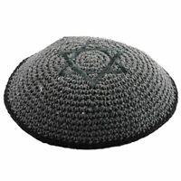 Kippa crochetée étoile de David DOREE ethnique traditionel yamaka Mitzvah juive