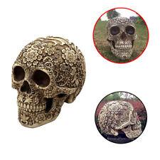 Table Decoration Flowers Skull Resin Craft Skeleton Statue Halloween Ornament