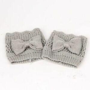 Hollow Stockings Leg Warmer Winter Boot Socks Bow-knot Stylish Warm Legs Covers