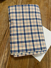 Ralph Lauren Oakley Red White Blue  Plaid Twin Flat Sheet  Cotton