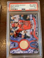 2018 Topps Holiday Relics R-Mtr Mike Trout [PSA 10]