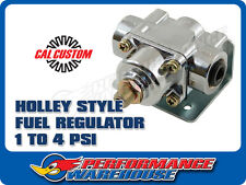 CAL CUSTOM HOLLEY STYLE 1 TO 4 PSI ADJUSTABLE FUEL PRESSURE REGULATOR CHROME