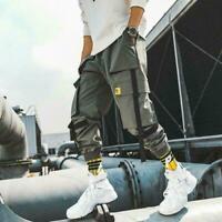 Chic Men Pockets Cargo Pants Harem Joggers Baggy Harajuku Sport Hip Hop trousers