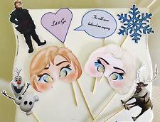 Frozen Anna Elsa Olaf Disney Photo Booth Selfie Props x8 Wedding Birthday Party