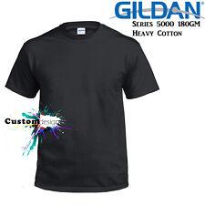 Gildan T-SHIRT Black Basic tee S M L XL XXL 3XL 4XL 5XL Men's Heavy Cotton