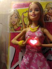 Barbie Doll Light Up Heart 2015 By Mattel I Heart making new friends PinkNew