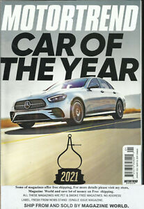 MOTOR TREND MAGAZINE,   CAR OF THE YEAR   JANUARY, 2021    VOL. 73     NO. 1