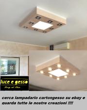 lampadario moderno led plafoniera a soffitto  in cartongesso personalizzabile