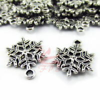 Snowflake Charms 22mm Antiqued Silver Plated Pendants SC0030236 - 10/20/40PCs