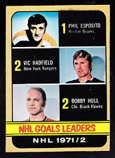 1972-73 O-PEE-CHEE #272 PHIL ESPOSITO/VIC HADFIELD/BOBBY HULL