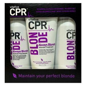 VITAFIVE CPR THE BLONDE TRIO PACK HAIR TONE SHAMPOO CONDITIONER TONING TREATMENT