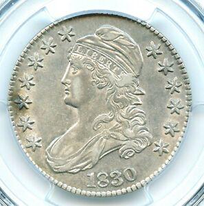1830 O-119 Medium 0 Capped Bust Half Dollar, PCGS AU53