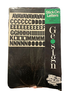 """Stick On Letters 3/4"""" (19mm) Gothic Capitals & Numerals"""