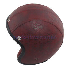 Wine Red Open Face 3/4 Motorcycle Helmet Scooter Adult 3/4 Retro For Harley moto