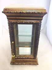 Horchow Italy Carved Wood & Marble Curio Display Cabinet