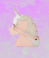 Missguided HOLOGRAPHIC GLITTER UNICORN CROSSBODY BAG + GLOSS BOSS LIP New W/Tags