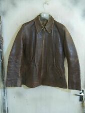 VINTAGE 40'S WW2 GERMAN DISTRESSED LEATHER FLYING CYCLIST JACKET SIZE 40