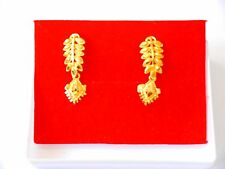 24 k gold plated stud earrings indian jewelry e9
