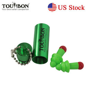 Tourbon Ear Plug Hearing Protection Shooting Noise Sound Reduction Keychain Case