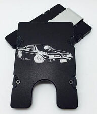 Trans Am Cartoon, Aluminum Wallet/Credit Card Holder, RFID Protection, Black