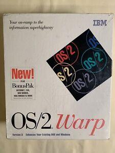 IBM OS/2 Warp Version 3 Operating System plus Bonus Pak SEALED