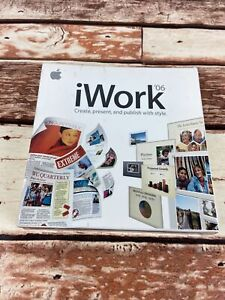 Apple iWork '06 for Mac MA222Z/A Factory Sealed Box New