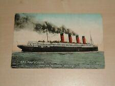 "1912 Postcard Of Cunard Line RMS  ""Mauretania"""