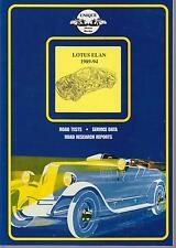 LOTUS ELAN 100 Series (1989 - 1994) période essais routiers livre