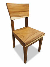Chair Acacia Suar Solid Wood Dining Room Sitting Stool Table Seating Furniture