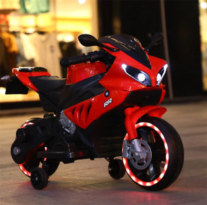 Red 6V Electric Kids Ride on Motorcycle With MP3 Music and Light  2- 4 years