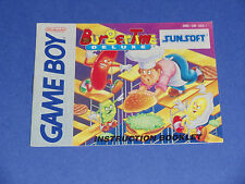 BurgerTime Deluxe - Nintendo Game Boy INSTRUCTIONS ONLY - NO GAME