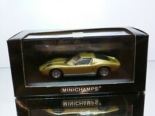 MINICHAMPS 103001 LAMBORGHINI MIURA - GOLD 1:43 - EXCELLENT IN BOX