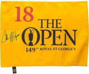 *PRE-ORDER* Collin Morikawa Signed 2021 British Open Flag - JSA Witnessed