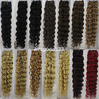 """More Color AAA+ 18""""-26"""" Remy Curly Deep Weft Human Hair Extensions Weave 100g"""