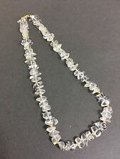 NAPIER VINTAGE NECKLACE FROSTED PLASTIC BEADS GOLD RIDGE SEPERATORS